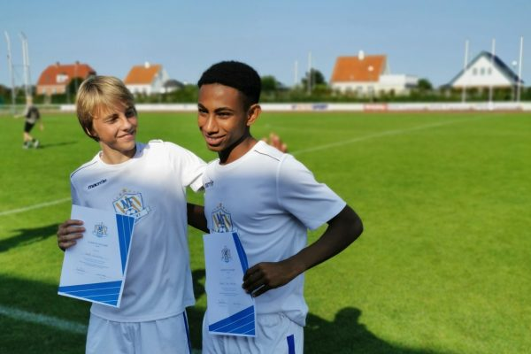 Noah Solheim and Sahle Wålberg look forward to training with Sporting