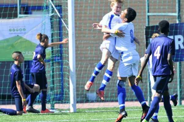 Odin Holm in action for NF Academy Elite Selection in Portugal against PSG under Ibercup