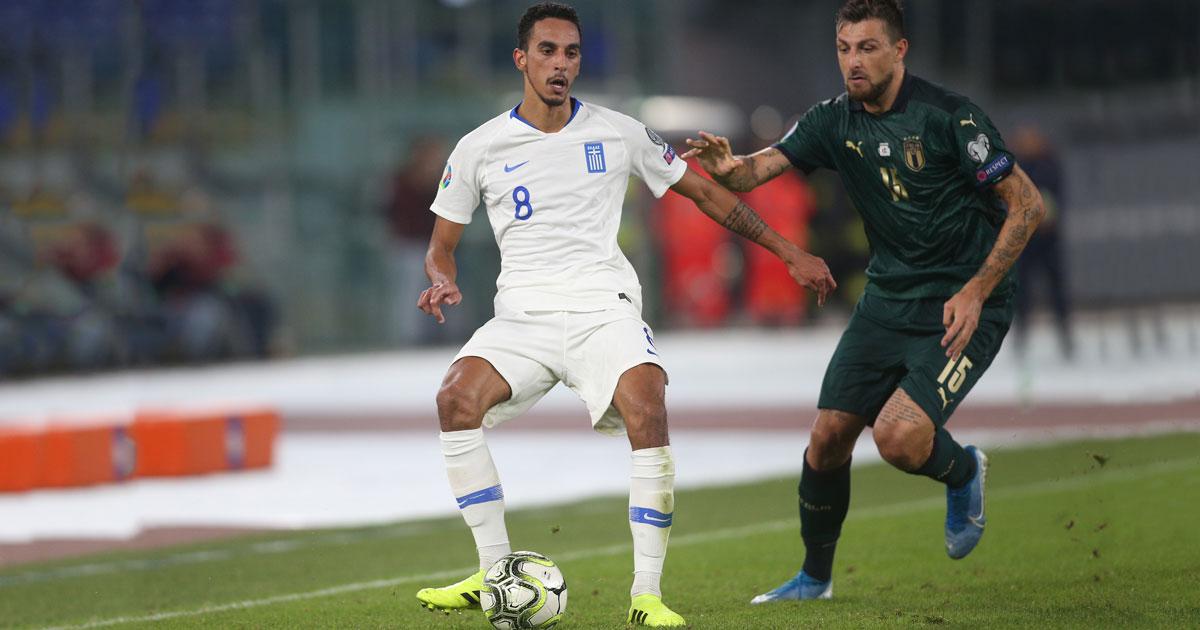 Zeca repræsenterer det græske landshold under UEFA EURO 2020 kvalifikationskamp mod Italien i 2019.