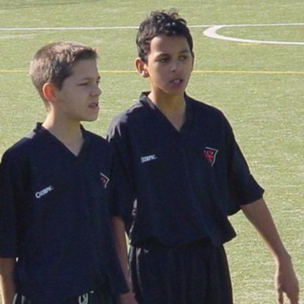 Zeca da han var 14 i Casa Pia AC, hans klub fra ungdoms- til seniorfodbold.