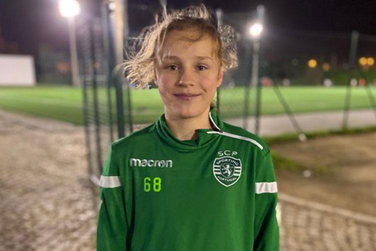 Martine Fenger fik prøvespil med Sporting CP i februar 2020 efter hendes stærke præstationer i flere NF programmer.